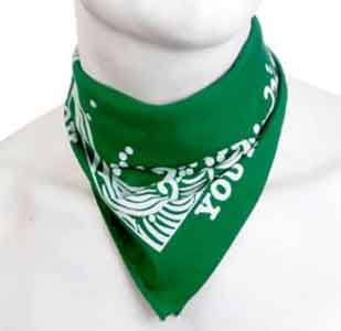 green bandana neckerchief