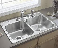 kitchen sink, stainless steel double