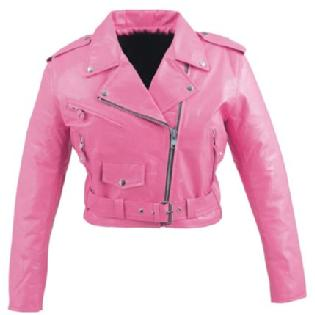 pink leather motorcycle jacket