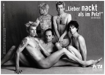 Die Toten Hosen ad for PETA